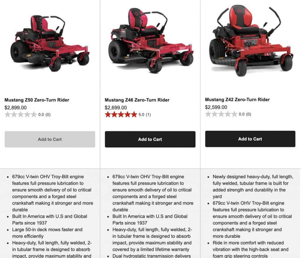 best-zero-turn-mower-under-3000-troy-bilt