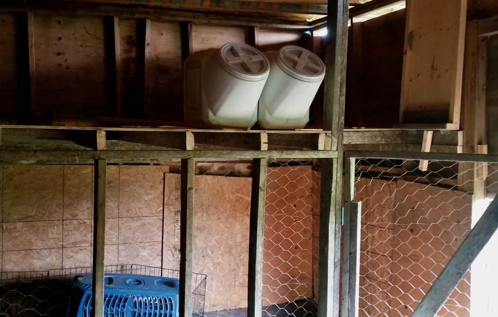 Hay-loft-chicken-wire-in-progress