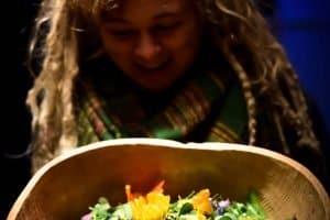 meditative-foraging-basket-flowers-leaves