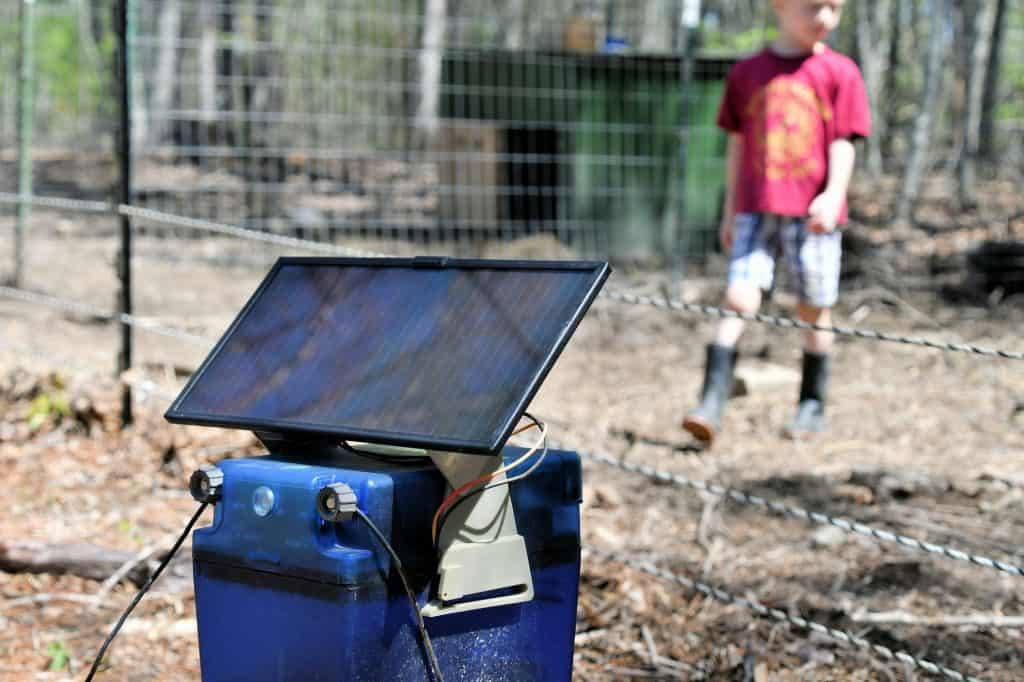Using solar energy to power an electric fence on the farm