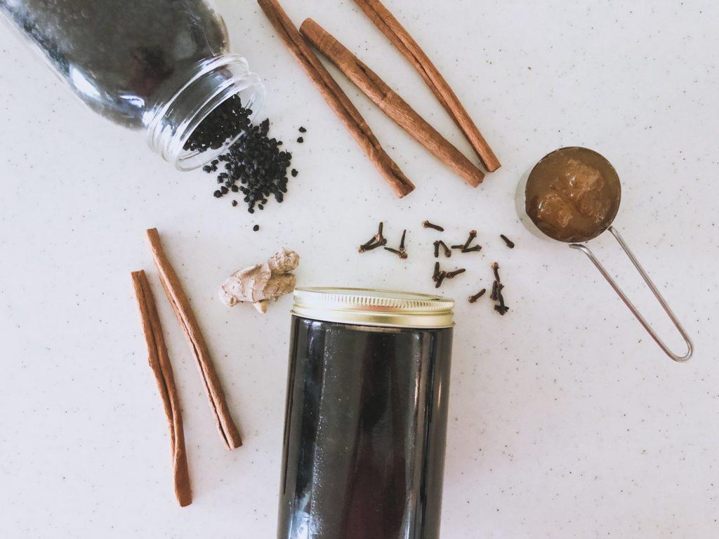 Natural medicine elderberry syrup