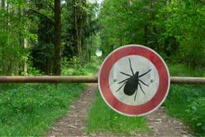 tick-sign-on-farm-homestead