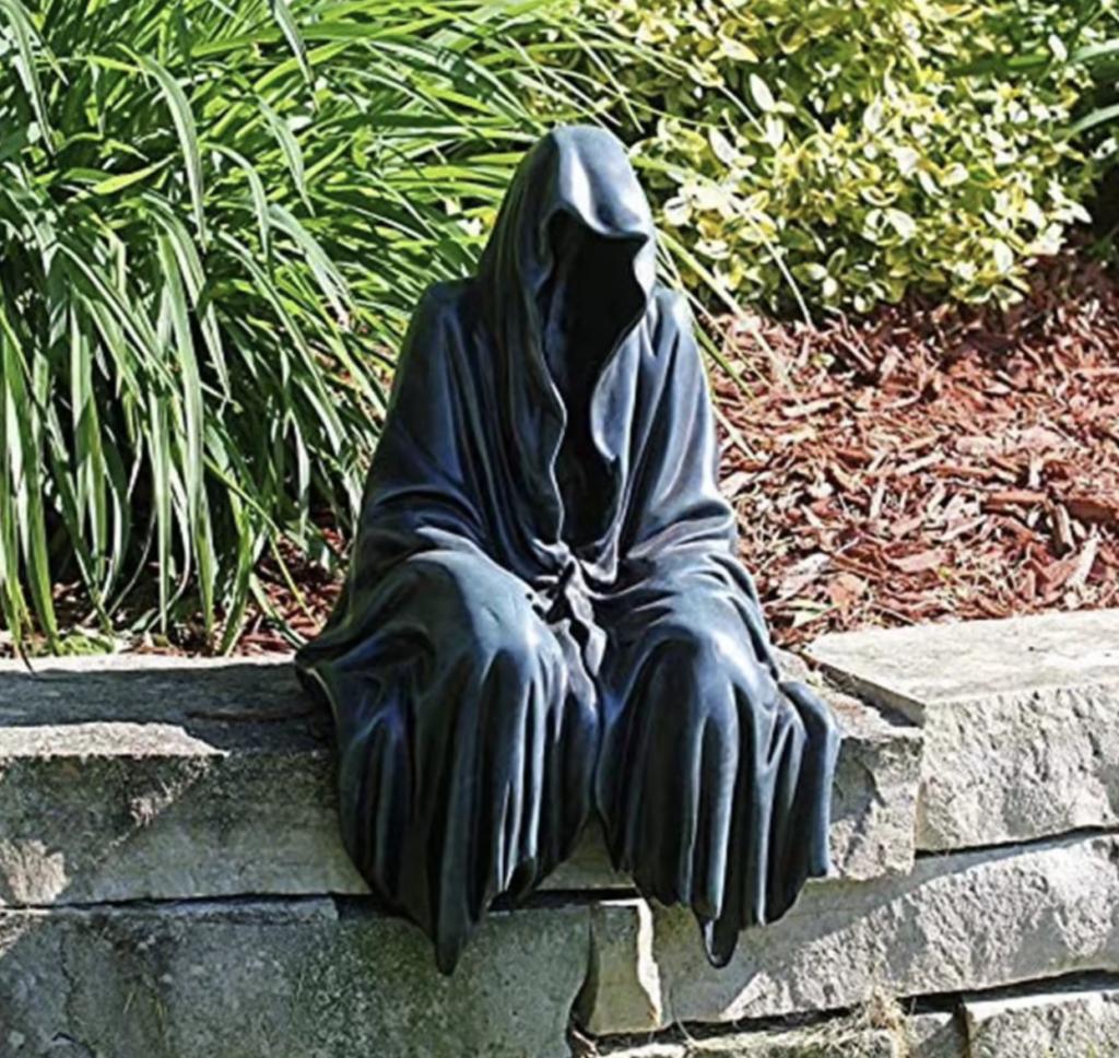 gloomy grim reeper creepy gnome halloween