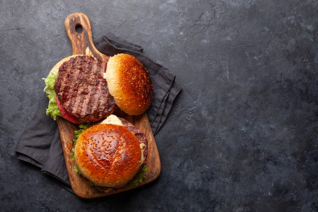 Homemade tasty beef burgers