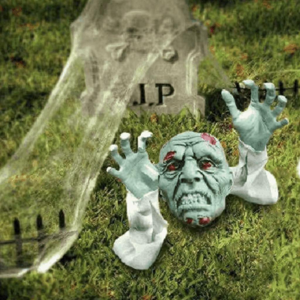 zombie rip halloween creepy garden gnome
