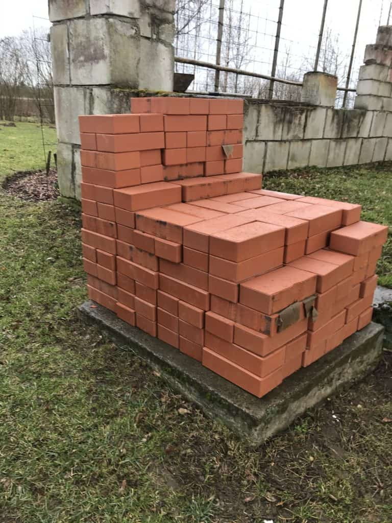 Bricks in a pile, ready to be used for remodeling
