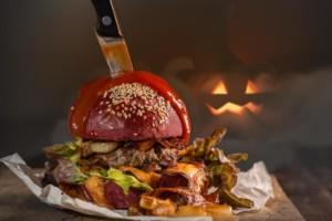 epic halloween cheeseburger