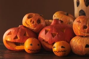 spooky veggies pumpkins for halloween